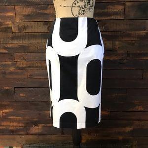 Grace Black & White Pencil Skirt